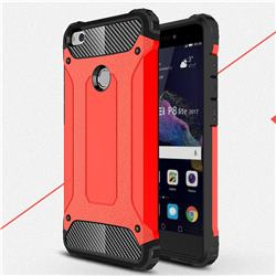 King Kong Armor Premium Shockproof Dual Layer Rugged Hard Cover for Huawei P8 Lite 2017 / P9 Honor 8 Nova Lite - Big Red