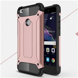 King Kong Armor Premium Shockproof Dual Layer Rugged Hard Cover for Huawei P8 Lite 2017 / P9 Honor 8 Nova Lite - Rose Gold