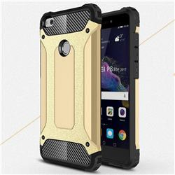 King Kong Armor Premium Shockproof Dual Layer Rugged Hard Cover for Huawei P8 Lite 2017 / P9 Honor 8 Nova Lite - Champagne Gold