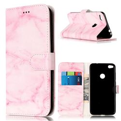 Pink Marble PU Leather Wallet Case for Huawei P8 Lite 2017 / Honor 8 Lite / Nova Lite / P9 Lite 2017