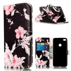 Azalea Flower PU Leather Wallet Case for Huawei P8 Lite 2017 / Honor 8 Lite / Nova Lite / P9 Lite 2017