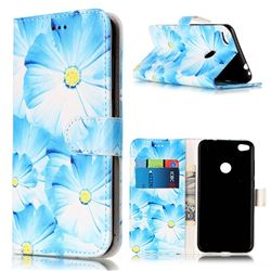Orchid Flower PU Leather Wallet Case for Huawei P8 Lite 2017 / Honor 8 Lite / Nova Lite / P9 Lite 2017