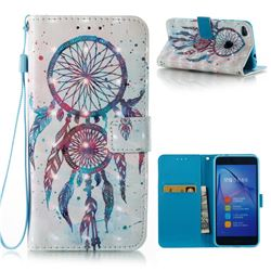 ColorDrops Wind Chimes 3D Painted Leather Wallet Case for Huawei P8 Lite 2017 / P9 Honor 8 Nova Lite