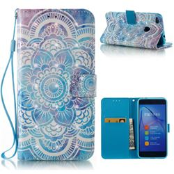 Mandala 3D Painted Leather Wallet Case for Huawei P8 Lite 2017 / P9 Honor 8 Nova Lite
