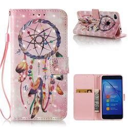 Bead Wind Chimes 3D Painted Leather Wallet Case for Huawei P8 Lite 2017 / P9 Honor 8 Nova Lite