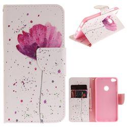 Purple Orchid PU Leather Wallet Case for Huawei P8 Lite 2017 / P9 Honor 8 Nova Lite