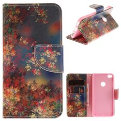 Colored Flowers PU Leather Wallet Case for Huawei P8 Lite 2017 / P9 Honor 8 Nova Lite