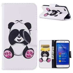 Lovely Panda Leather Wallet Case for Huawei P8 Lite 2017 / P9 Honor 8 Nova Lite