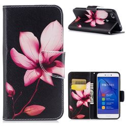 Lotus Flower Leather Wallet Case for Huawei P8 Lite 2017 / P9 Honor 8 Nova Lite