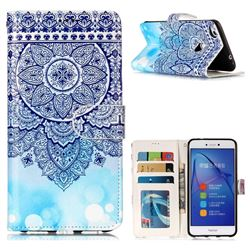 Totem Flower 3D Relief Oil PU Leather Wallet Case for Huawei P8 Lite 2017 / P9 Honor 8 Nova Lite