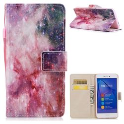 Cosmic Stars PU Leather Wallet Case for Huawei P8 Lite 2017 / P9 Honor 8 Nova Lite