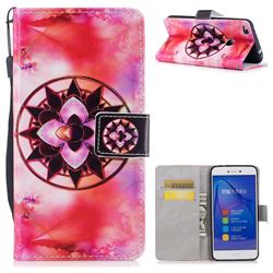 Red Mandala PU Leather Wallet Case for Huawei P8 Lite 2017 / P9 Honor 8 Nova Lite