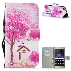 Tree House 3D Painted Leather Wallet Phone Case for Huawei P8 Lite 2017 / P9 Honor 8 Nova Lite