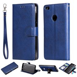 Retro Greek Detachable Magnetic PU Leather Wallet Phone Case for Huawei P8 Lite 2017 / P9 Honor 8 Nova Lite - Blue