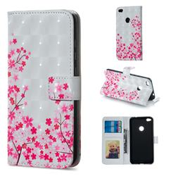 Cherry Blossom 3D Painted Leather Phone Wallet Case for Huawei P8 Lite 2017 / P9 Honor 8 Nova Lite