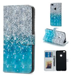 Sea Sand 3D Painted Leather Phone Wallet Case for Huawei P8 Lite 2017 / P9 Honor 8 Nova Lite