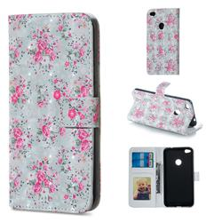 Roses Flower 3D Painted Leather Phone Wallet Case for Huawei P8 Lite 2017 / P9 Honor 8 Nova Lite