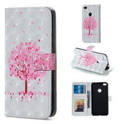 Sakura Flower Tree 3D Painted Leather Phone Wallet Case for Huawei P8 Lite 2017 / P9 Honor 8 Nova Lite