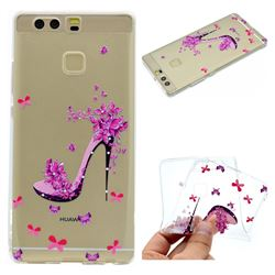 Petal High Heels Super Clear Soft TPU Back Cover for Huawei P9