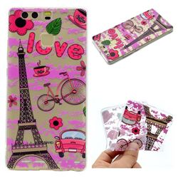 Love Eiffel Tower Super Clear Soft TPU Back Cover for Huawei P9