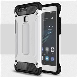 King Kong Armor Premium Shockproof Dual Layer Rugged Hard Cover for Huawei P9 - White