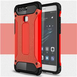 King Kong Armor Premium Shockproof Dual Layer Rugged Hard Cover for Huawei P9 - Big Red