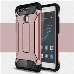 King Kong Armor Premium Shockproof Dual Layer Rugged Hard Cover for Huawei P9 - Rose Gold