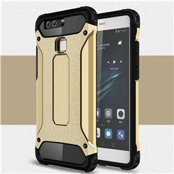 King Kong Armor Premium Shockproof Dual Layer Rugged Hard Cover for Huawei P9 - Champagne Gold