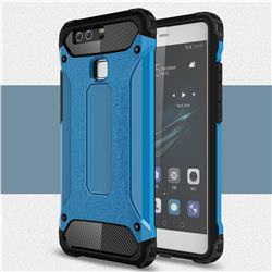 King Kong Armor Premium Shockproof Dual Layer Rugged Hard Cover for Huawei P9 - Sky Blue