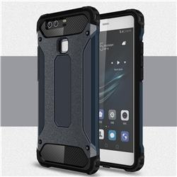 King Kong Armor Premium Shockproof Dual Layer Rugged Hard Cover for Huawei P9 - Navy