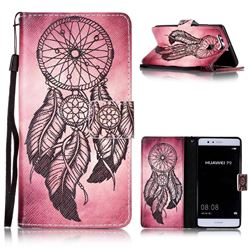 Wind Chimes Leather Wallet Phone Case for Huawei P9