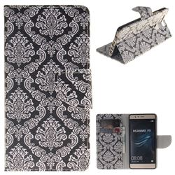 Totem Flowers PU Leather Wallet Case for Huawei P9