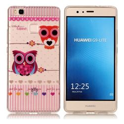 Owls Flower Super Clear Soft TPU Back Cover for Huawei P9 Lite G9 Lite