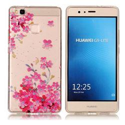 Plum Blossom Bloom Super Clear Soft TPU Back Cover for Huawei P9 Lite G9 Lite