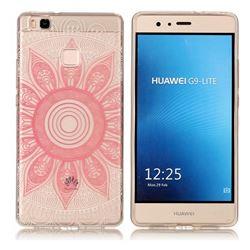 Pink Mandala Super Clear Soft TPU Back Cover for Huawei P9 Lite G9 Lite