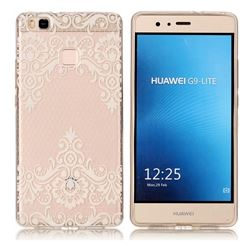 Diagonal Lace Super Clear Soft TPU Back Cover for Huawei P9 Lite G9 Lite