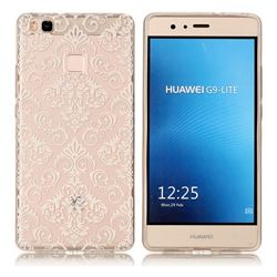 White Lace Flowers Super Clear Soft TPU Back Cover for Huawei P9 Lite G9 Lite