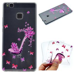 Petal High Heels Super Clear Soft TPU Back Cover for Huawei P9 Lite G9 Lite
