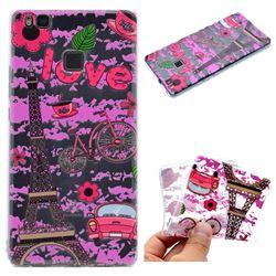 Love Eiffel Tower Super Clear Soft TPU Back Cover for Huawei P9 Lite G9 Lite