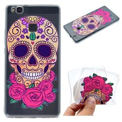 Skeleton Flower Super Clear Soft TPU Back Cover for Huawei P9 Lite G9 Lite