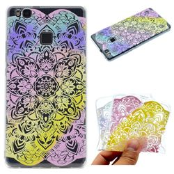 Mandala Rainbow Flower Super Clear Soft TPU Back Cover for Huawei P9 Lite G9 Lite