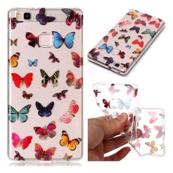 Colorful Butterfly Super Clear Soft TPU Back Cover for Huawei P9 Lite G9 Lite