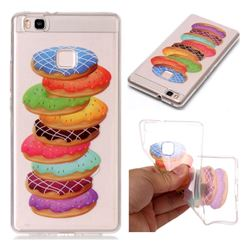 Melaleuca Donuts Super Clear Soft TPU Back Cover for Huawei P9 Lite G9 Lite