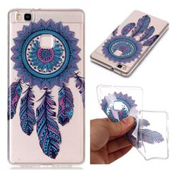 Blue Wind Chimes Super Clear Soft TPU Back Cover for Huawei P9 Lite G9 Lite