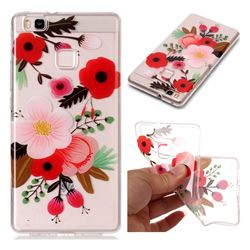 Painting Flowers Super Clear Soft TPU Back Cover for Huawei P9 Lite G9 Lite
