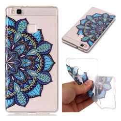 Peacock flower Super Clear Soft TPU Back Cover for Huawei P9 Lite G9 Lite