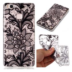 Black Rose Super Clear Soft TPU Back Cover for Huawei P9 Lite G9 Lite