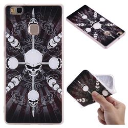 Compass Skulls 3D Relief Matte Soft TPU Back Cover for Huawei P9 Lite G9 Lite