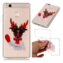 Red Gloves Elk Super Clear Soft TPU Back Cover for Huawei P9 Lite G9 Lite