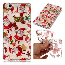 Santa Claus Super Clear Soft TPU Back Cover for Huawei P9 Lite G9 Lite